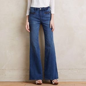 Anthropologie Pilcro High Rise Stet Flare Jeans